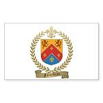 FALARDEAU Family Crest Rectangle Sticker 10 pk)