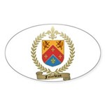 FALARDEAU Family Crest Oval Sticker (50 pk)