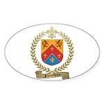 FALARDEAU Family Crest Oval Sticker (10 pk)