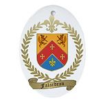 FALARDEAU Family Crest Oval Ornament