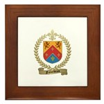 FALARDEAU Family Crest Framed Tile