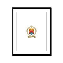 FALARDEAU Family Crest Framed Panel Print