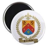 "FALARDEAU Family Crest 2.25"" Magnet (10 pack)"