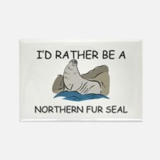 I'd Rather Be A Northern Fur Seal Rectangle Magnet