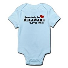 Somebody in Delaware Loves me Infant Bodysuit