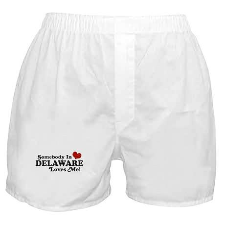 Somebody in Delaware Loves me Boxer Shorts