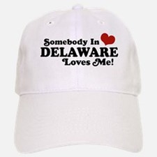 Somebody in Delaware Loves me Baseball Baseball Cap