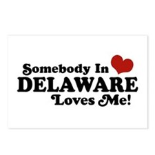 Somebody in Delaware Loves me Postcards (Package o