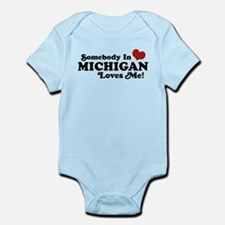 Somebody in Michigan Loves me Onesie