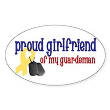 Proud Girlfriend of my Guardsman Oval Decal