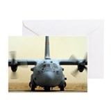 Air force c130 cargo Greeting Cards (20 Pack)