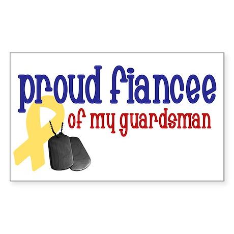 Proud Fiancee of my Guardsman Rectangle Sticker