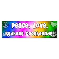 Hippie Redbone Coonhound Bumper Bumper Sticker