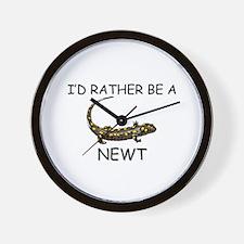I'd Rather Be A Newt Wall Clock
