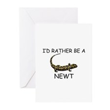 I'd Rather Be A Newt Greeting Cards (Pk of 10)