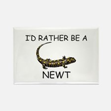 I'd Rather Be A Newt Rectangle Magnet