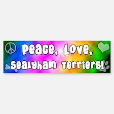 Hippie Sealyham Terrier Bumper Bumper Bumper Sticker