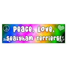Hippie Sealyham Terrier Bumper Bumper Sticker