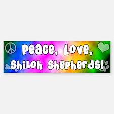 Hippie Shiloh Shepherd Bumper Car Car Sticker