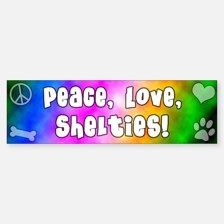 Hippie Sheltie Bumper Bumper Bumper Sticker