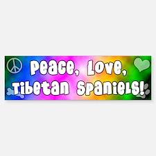 Hippie Tibetan Spaniel Bumper Bumper Bumper Sticker