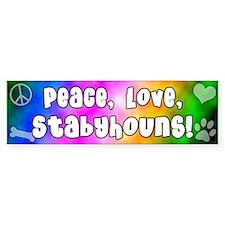 Hippie Stabyhoun Bumper Bumper Sticker