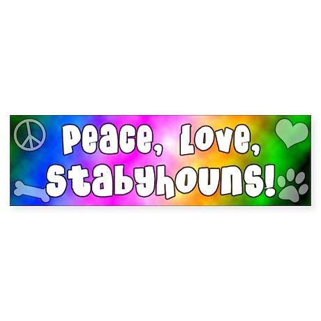 Hippie Stabyhoun Bumper Sticker