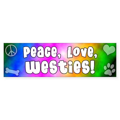 Hippie Westie Bumper Sticker