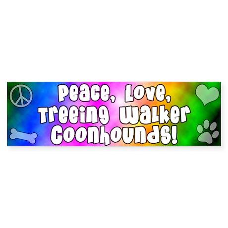 Hippie Treeing Walker Coonhound Bumper Sticker