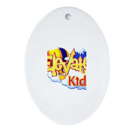 Elevate Logo Oval Ornament