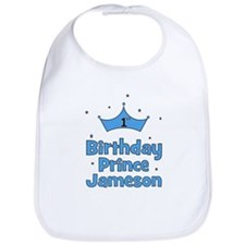 1st Birthday Prince Jameson! Bib