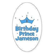 1st Birthday Prince Jameson! Oval Decal