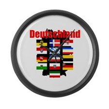 Flags of Deutschland Large Wall Clock