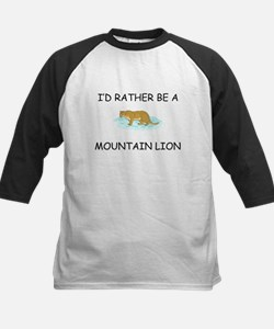 I'd Rather Be A Mountain Lion Kids Baseball Jersey