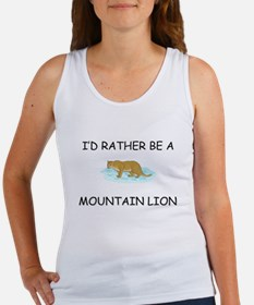 I'd Rather Be A Mountain Lion Women's Tank Top