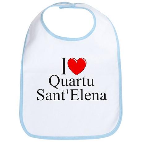 """""""I Love (Heart) Quartu Sant'Elena"""" Bib"""