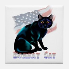 The Bombay Cat Tile Coaster