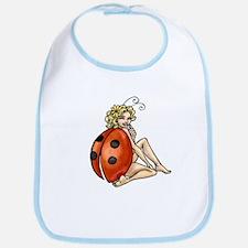 ladybird art Bib