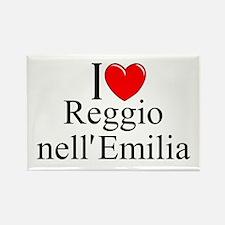"""""""I Love (Heart) Reggio nell'Emilia"""" Rectangle Magn"""