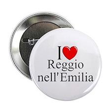 """""""I Love (Heart) Reggio nell'Emilia"""" 2.25"""" Button"""