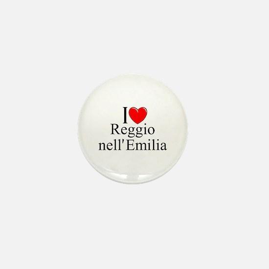 """""""I Love (Heart) Reggio nell'Emilia"""" Mini Button"""