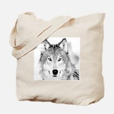 Great White Wolf Tote Bag