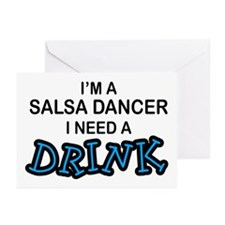 Salsa Dancer Need a Drink Greeting Cards (Pk of 10