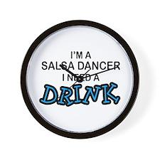Salsa Dancer Need a Drink Wall Clock
