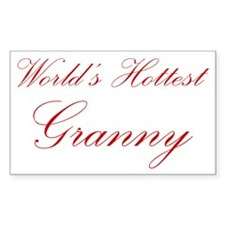 Sexy Grandmother Rectangle Decal