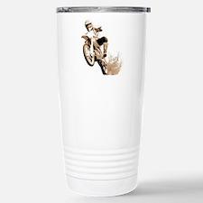 Dirt bike wheeling in mud Travel Mug