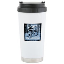 """Fun in the Woods"" (Blue) Travel Mug"