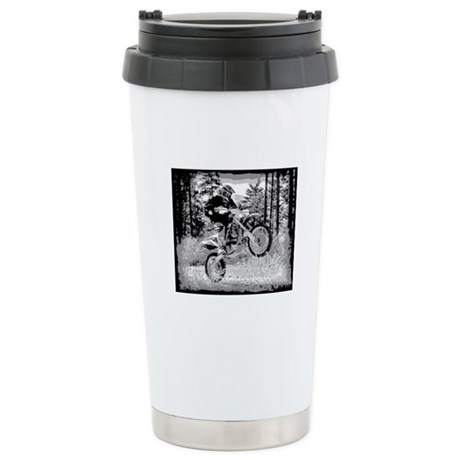 Fun in the woods dirt biking Stainless Steel Trave