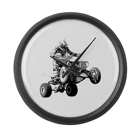 ATV Racing Large Wall Clock