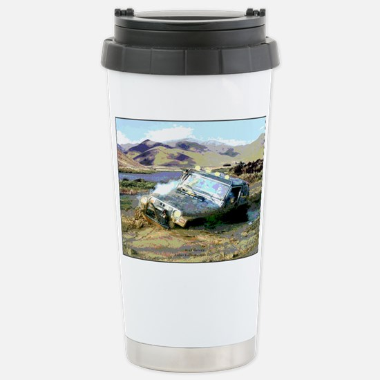 Jeep & Mud Therapy Stainless Steel Travel Mug
